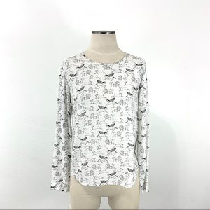 H&M- Fable Print Blouse Size 6